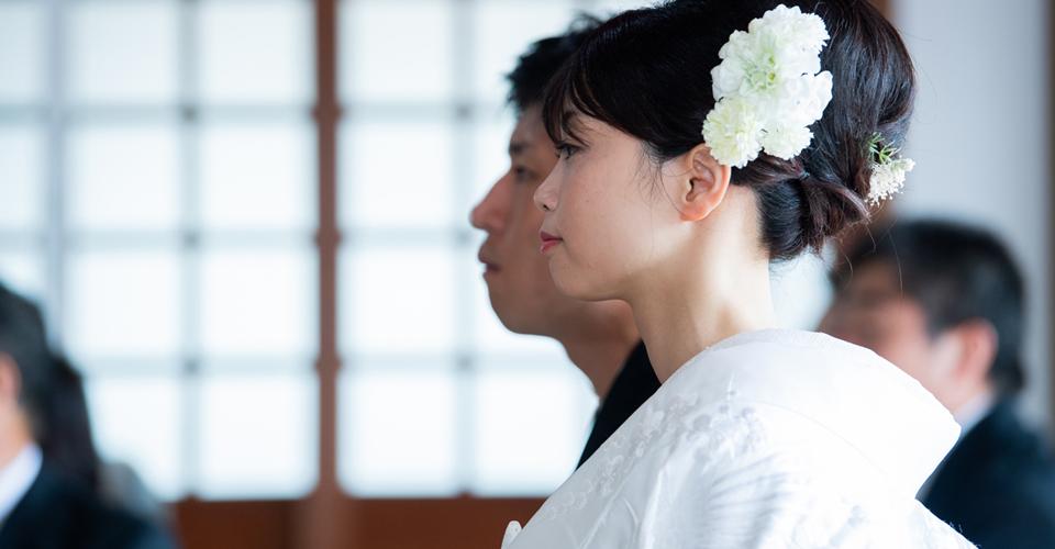 到津八幡神社で結婚式